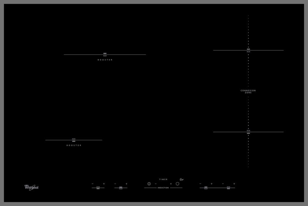 Whirlpool Plită ACM 1032/BA Negru Induction vitroceramic Frontal