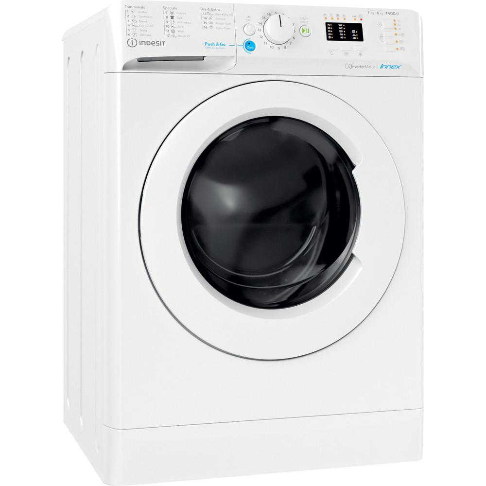 Indesit Pračka se sušičkou Volně stojící BDA 761483X W EE N Bílá Front loader Perspective