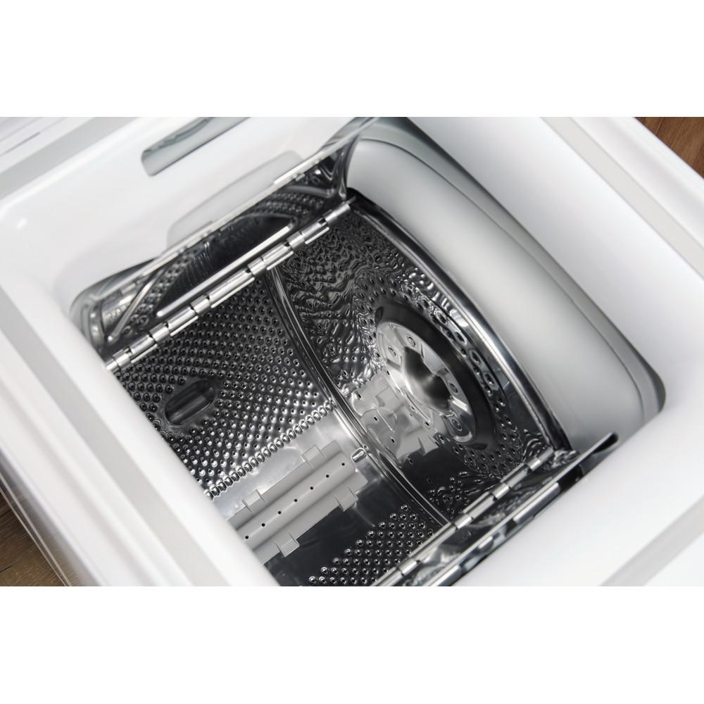 Indesit Pračka Volně stojící BTW D61053 (EU) Bílá Top loader A+++ Drum