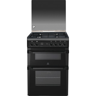 Indesit Double Cooker ID60G2(A) Antracite A+ Enamelled Sheetmetal Frontal