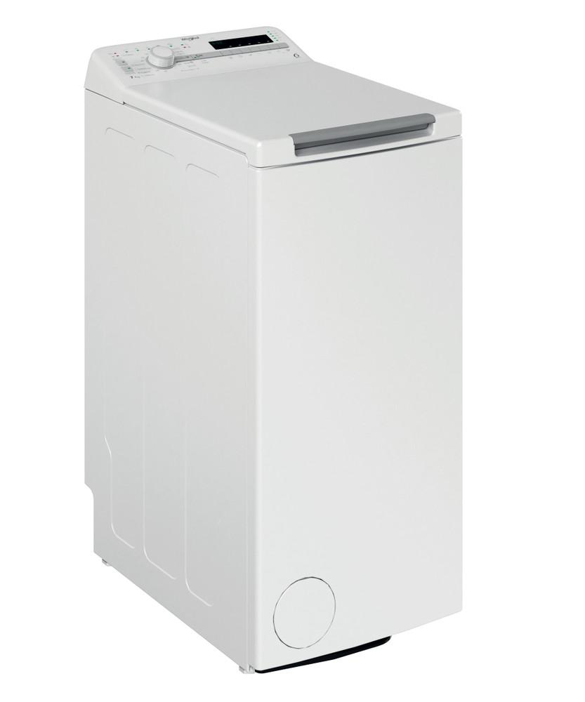 Whirlpool Maşină de spălat rufe De sine statator TDLR 7220SS EU/N Alb Încărcare Verticală E Perspective