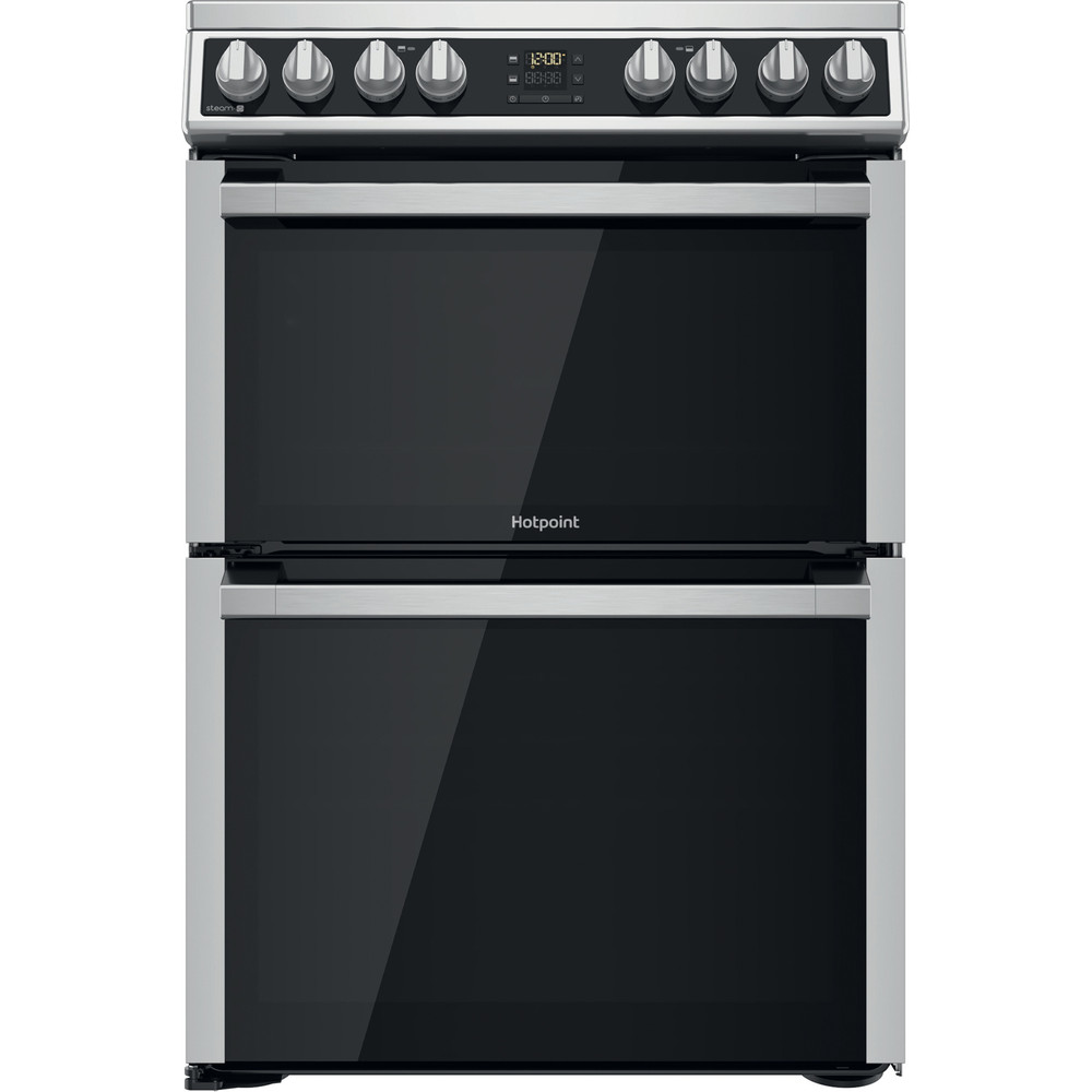 Hotpoint Double Cooker HDM67V8D2CX/UK Inox A Frontal