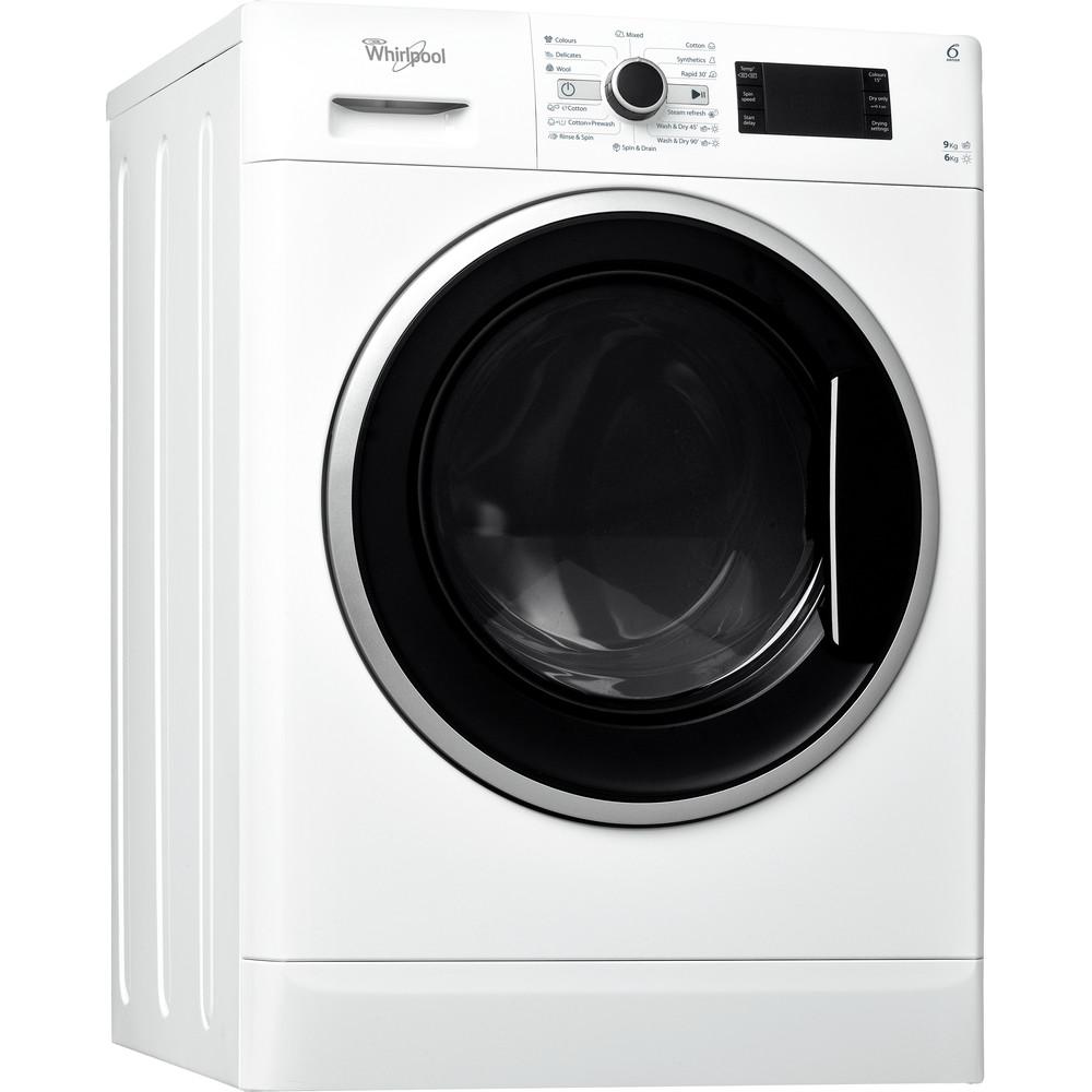 Whirlpool fristående tvätt-tork: 9 kg - WWDC 9614