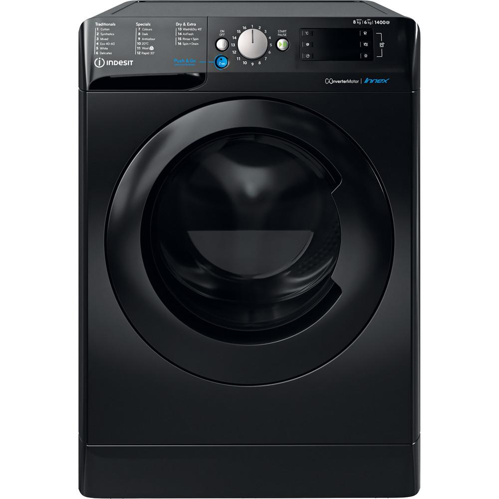 Indesit Washer dryer Free-standing BDE 861483X K UK N Black Front loader Frontal
