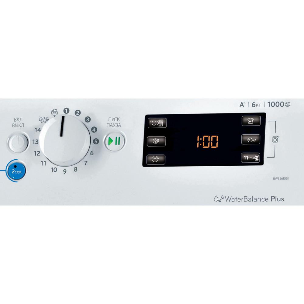 Indesit Стиральная машина Отдельностоящий BWSE 61051 Белый Фронтальная загрузка A Control_Panel