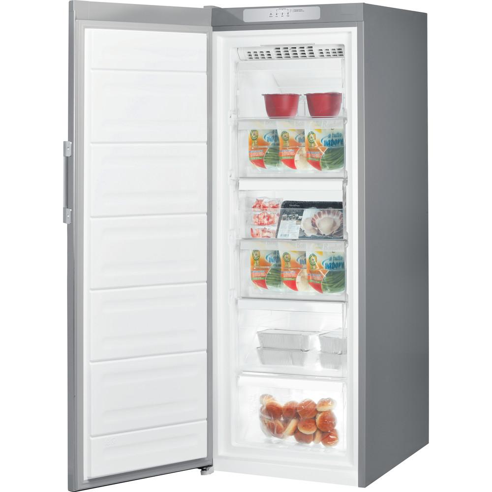 Indesit Congelador Libre instalación UI6 F1T S1 Plata Perspective open