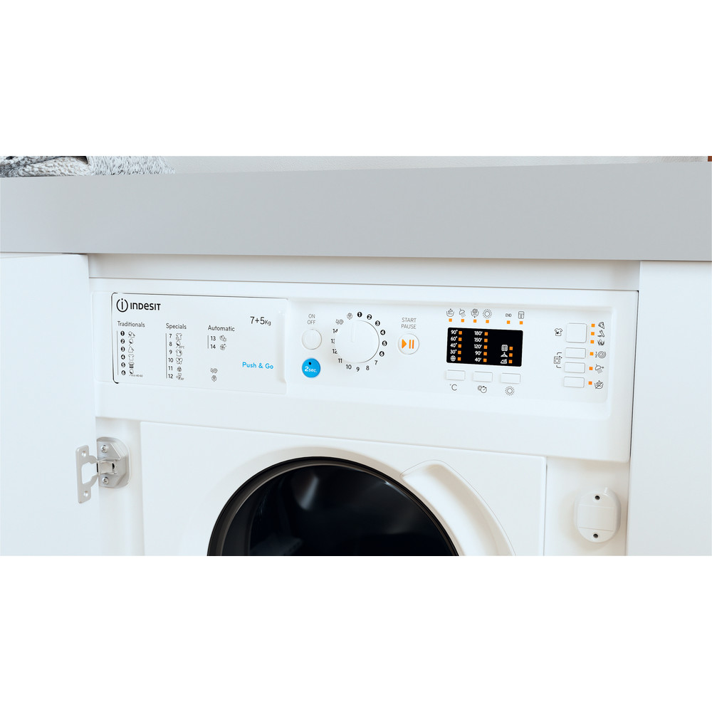 Indesit Lavasciugabiancheria Da incasso BI WDIL 751251 EU N Bianco Carica frontale Lifestyle control panel