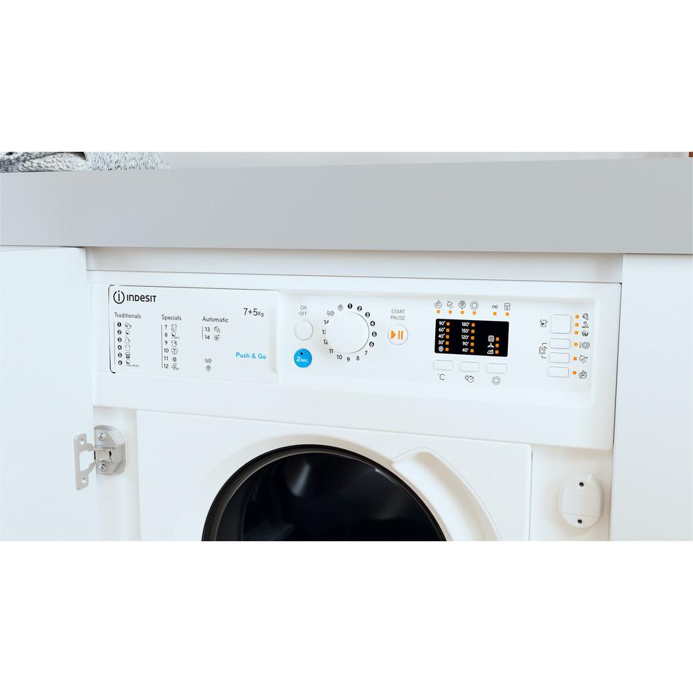 Indesit Lavadora secadora Encastre BI WDIL 751251 EU N Blanco Cargador frontal Lifestyle control panel