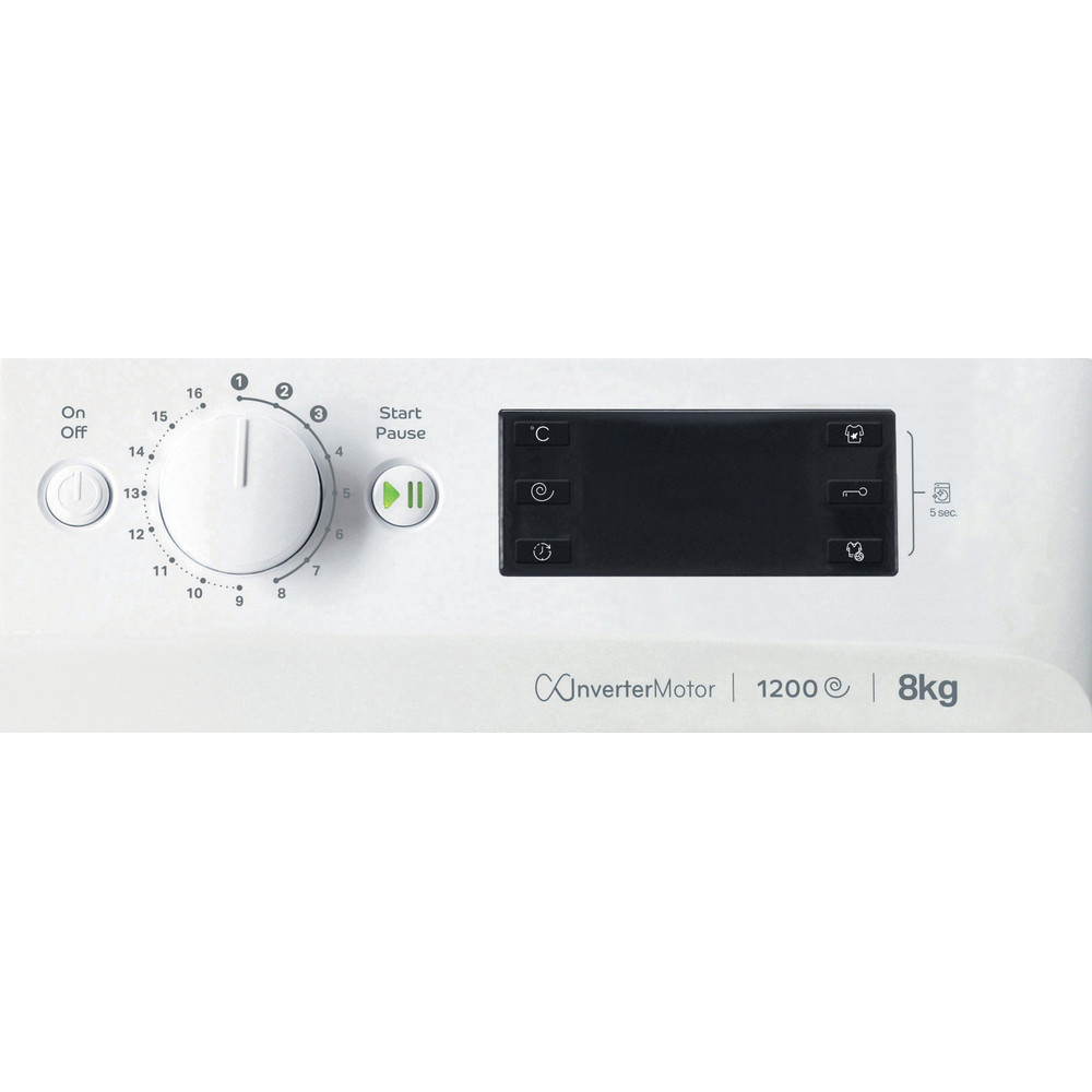 Indesit Стиральная машина Отдельно стоящий OMTWE 81283 WK EU Белый Front loader A+++ Control panel