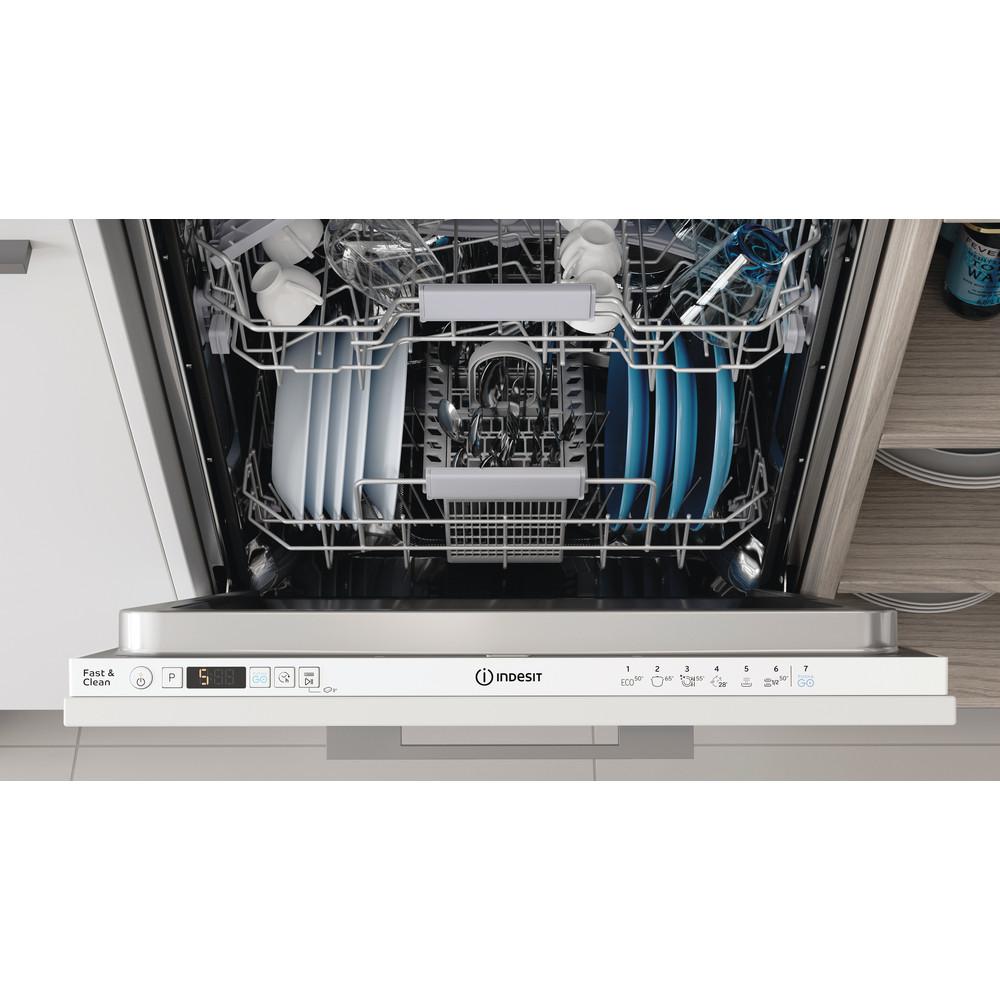 Indesit Nõudepesumasin Sisseehitatav DIC 3B+16 A Full-integrated F Lifestyle control panel