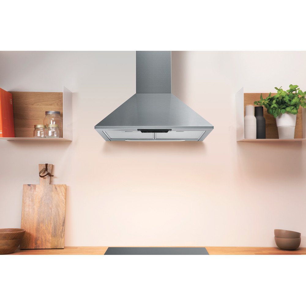 Indesit HOOD Free-standing UHPM 6.3F CS X/1 Inox Wall-mounted Mechanical Lifestyle frontal