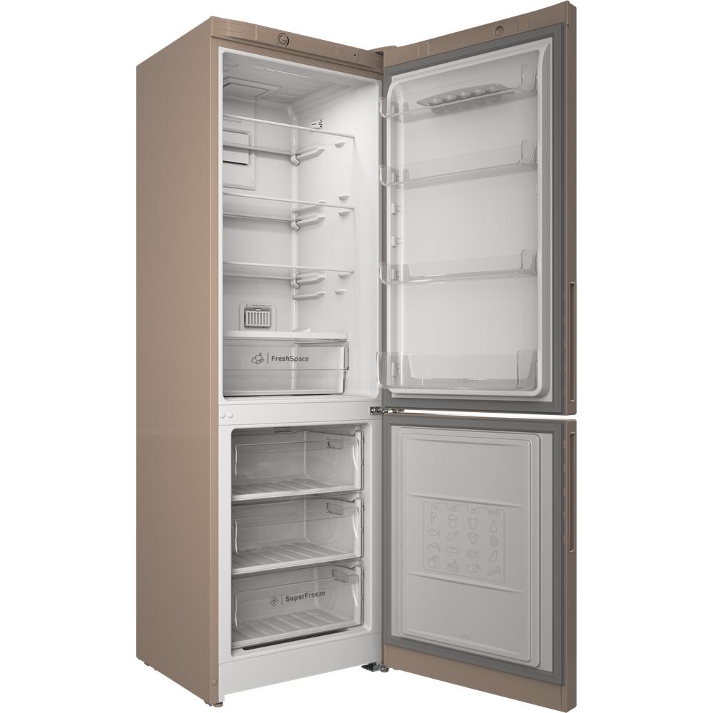 Indesit Холодильник с морозильной камерой Отдельностоящий ITR 4180 E Розово-белый 2 doors Perspective open