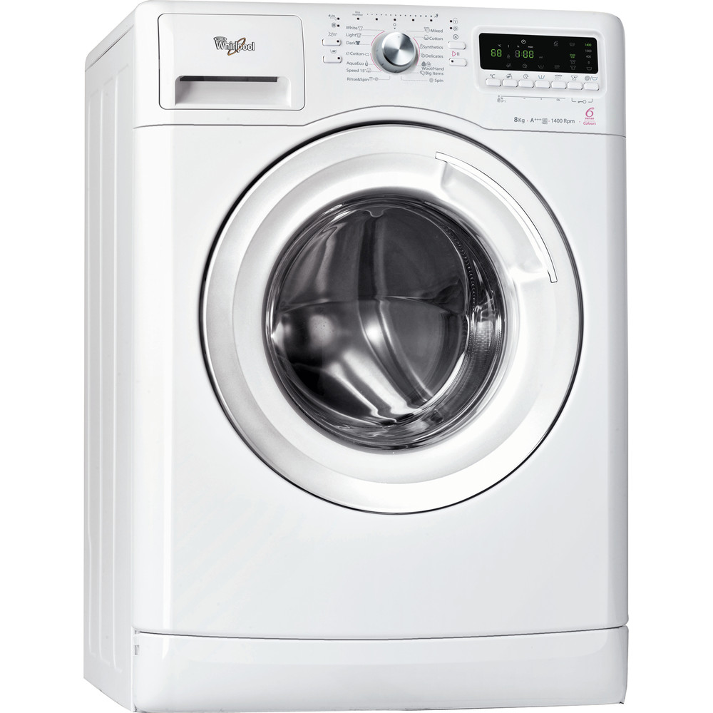 Whirlpool frontmatad tvättmaskin: 8 kg - AWOE 8014
