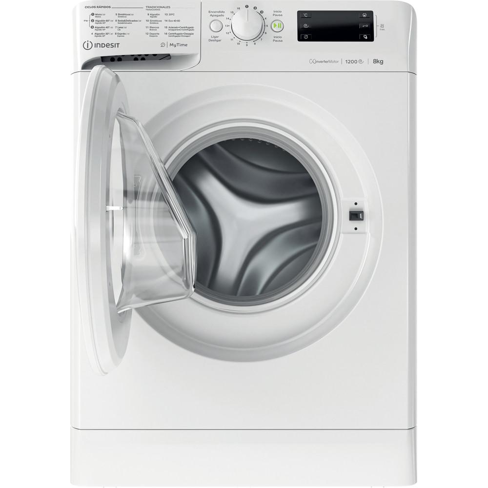 Indesit Máquina de lavar roupa Livre Instalação MTWE 81283 W SPT Branco Carga Frontal D Frontal open