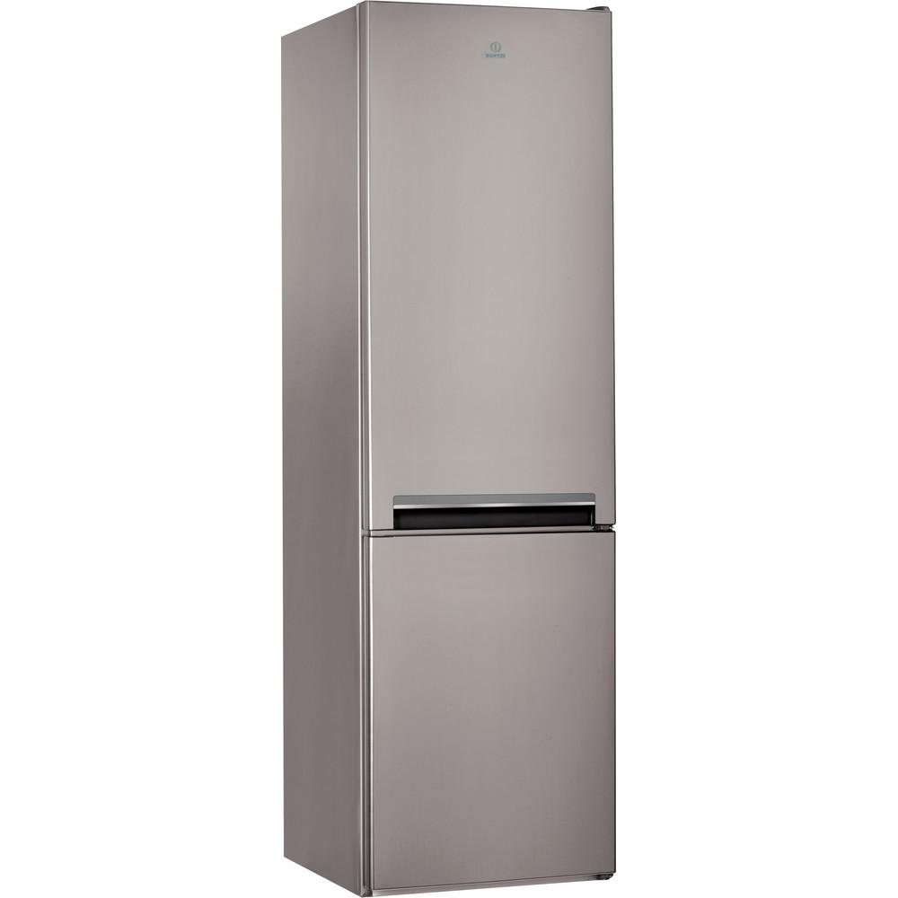 Indesit Холодильник с морозильной камерой Отдельно стоящий LI9 S1Q X Оптик Inox 2 doors Perspective