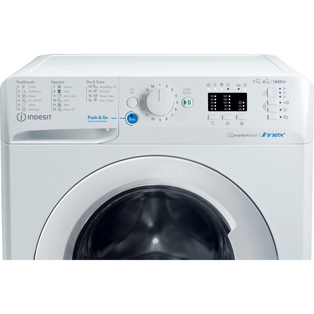 Indesit Pračka se sušičkou Volně stojící BDA 761483X W EE N Bílá Front loader Control panel