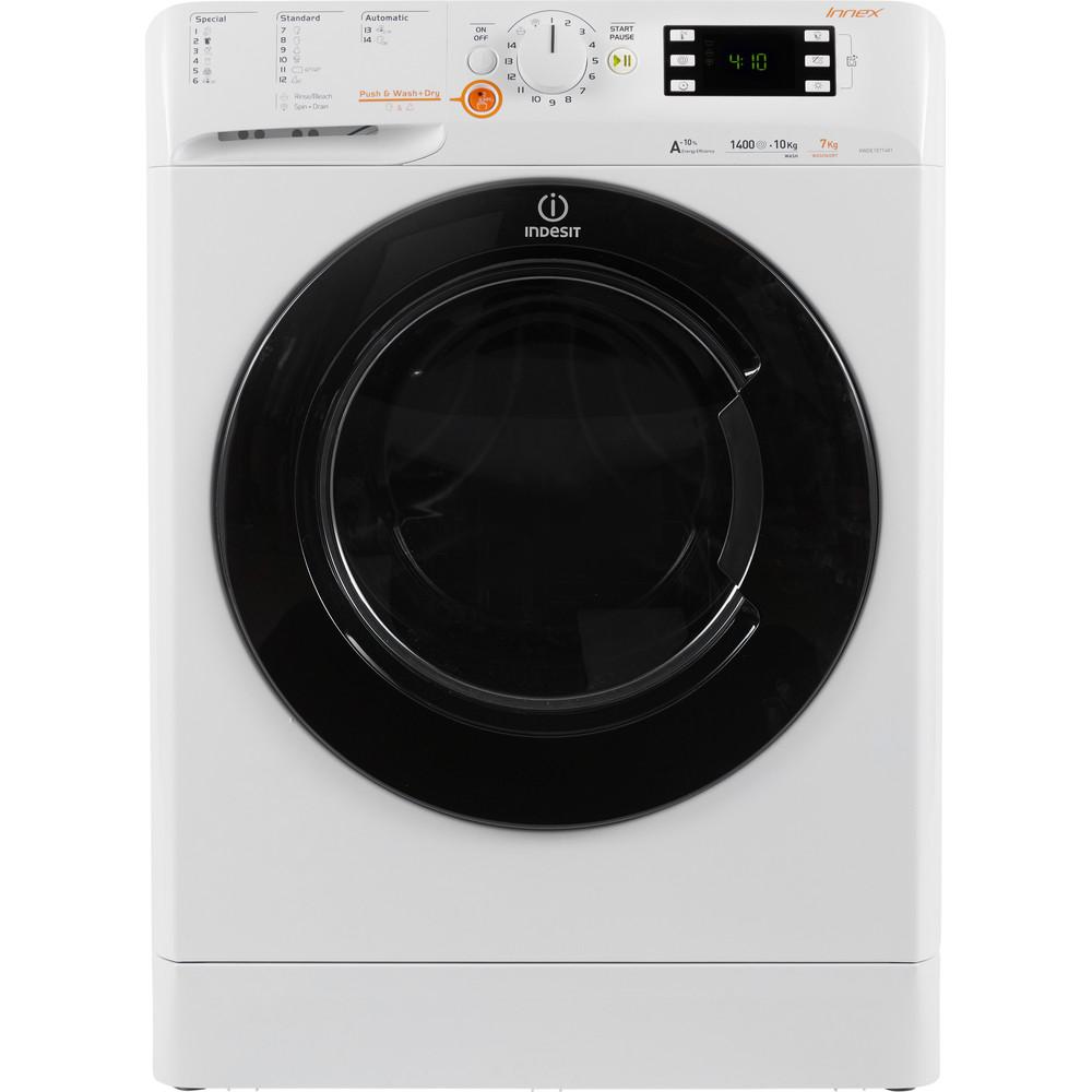 Indesit Kuivaava pesukone Vapaasti sijoitettava XWDE 1071481XWKKK EU Valkoinen Edestä täytettävä Frontal