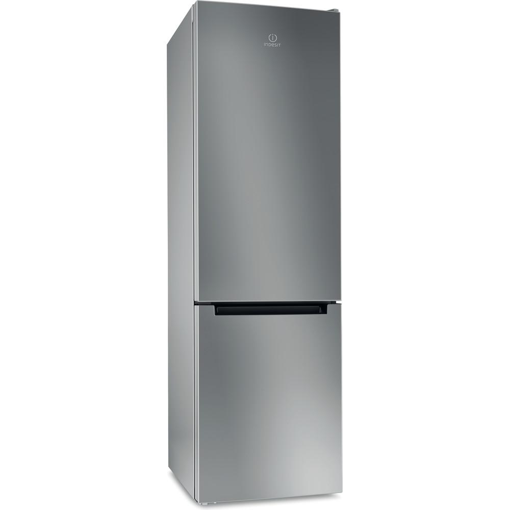 Indesit Холодильник с морозильной камерой Отдельностоящий DFE 4200 S Серебристый 2 doors Perspective