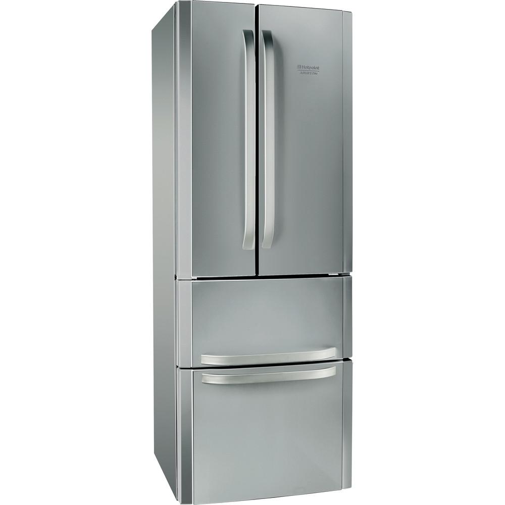 Hotpoint_Ariston Комбинированные холодильники Отдельностоящий E4D AA X C Нержавеющая сталь 2 doors Perspective