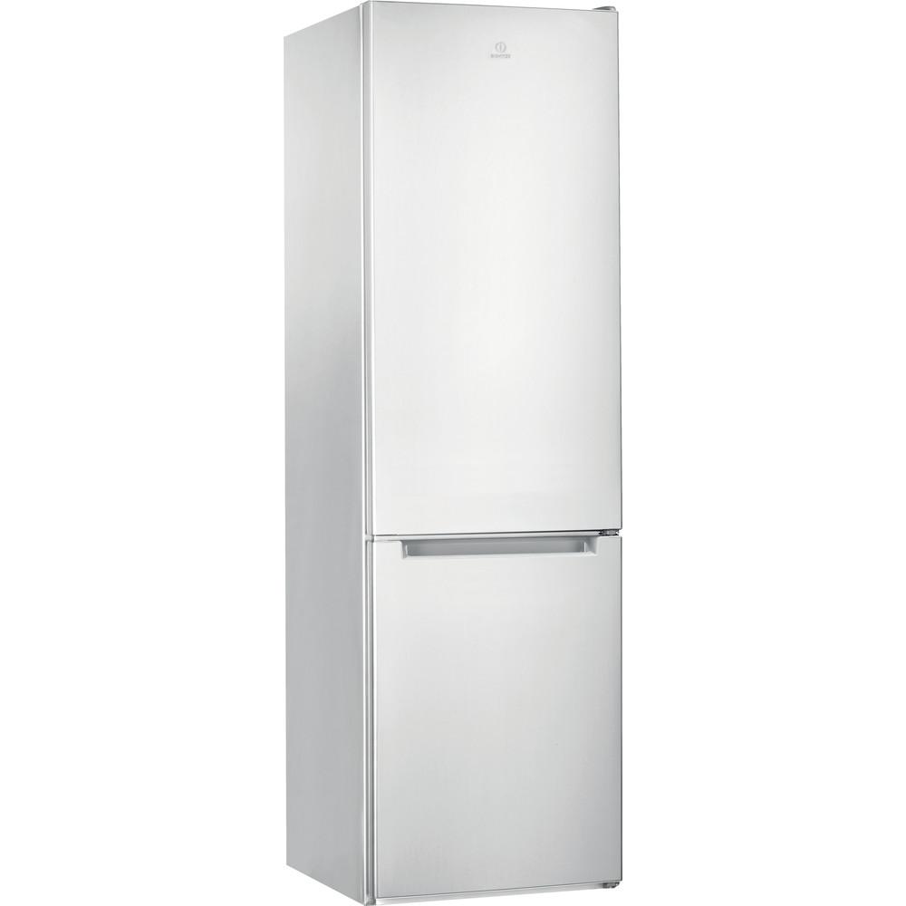 Indesit Комбиниран хладилник с камера Свободностоящи LI9 S2E W Глобално бяло 2 врати Perspective