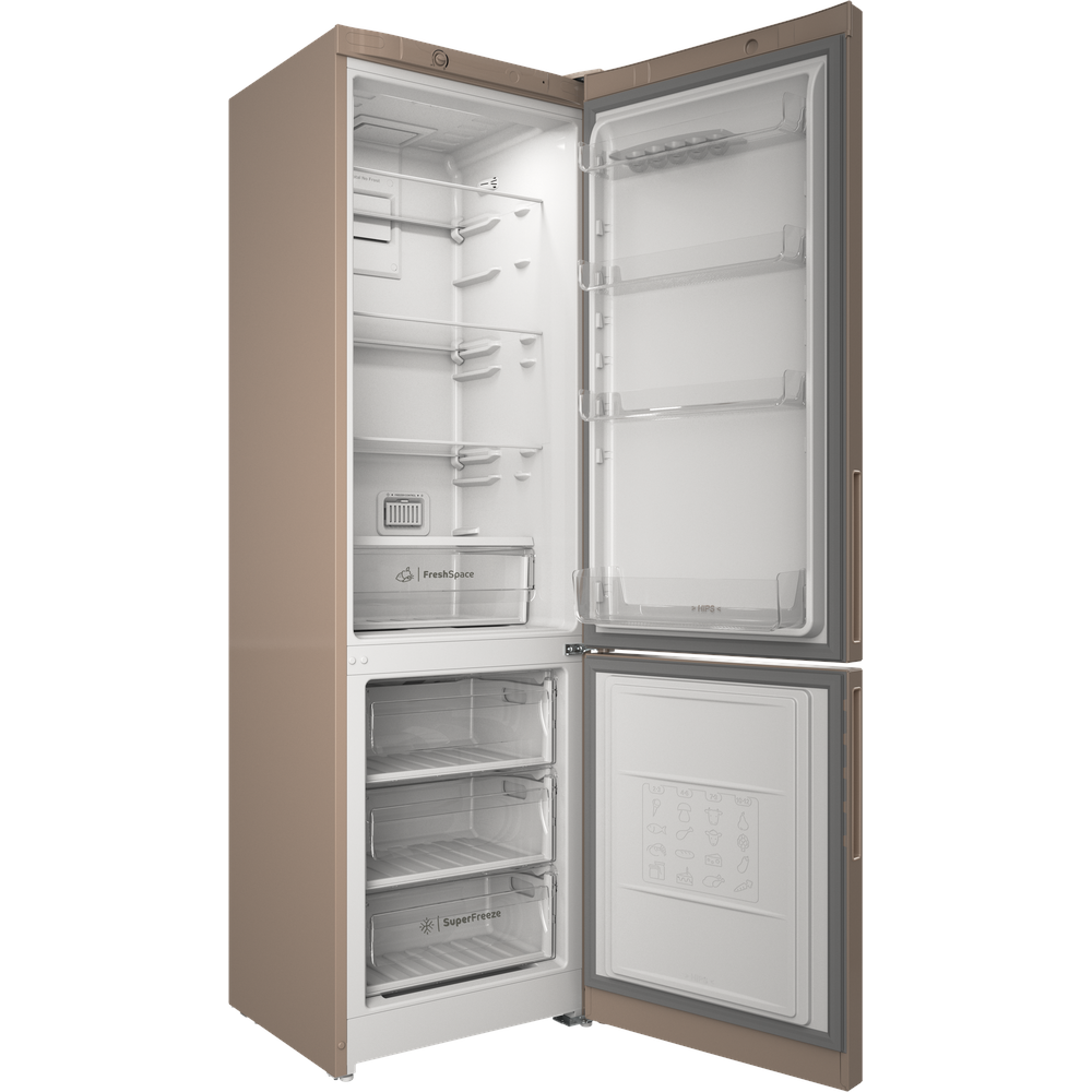 Indesit Холодильник с морозильной камерой Отдельностоящий ITR 4200 E Розово-белый 2 doors Perspective open