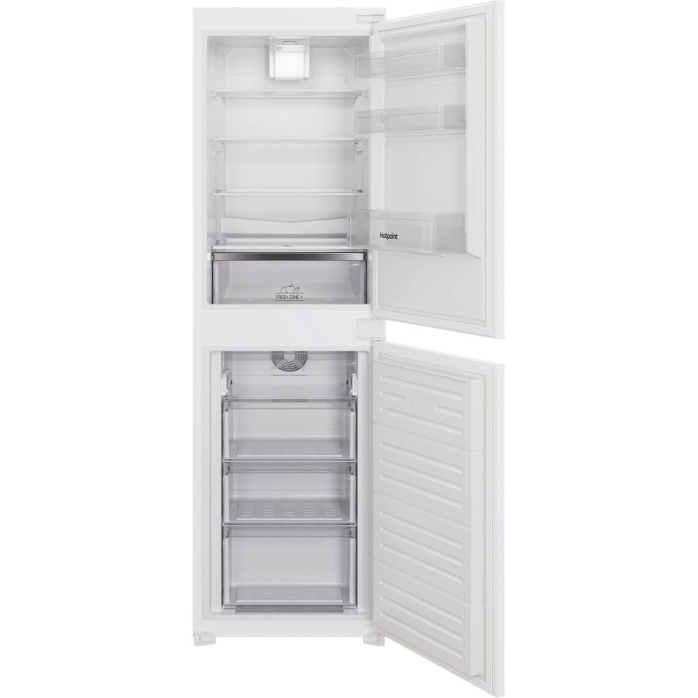 Hotpoint Fridge-Freezer Combination Built-in HBC18 5050 F1 White 2 doors Frontal open