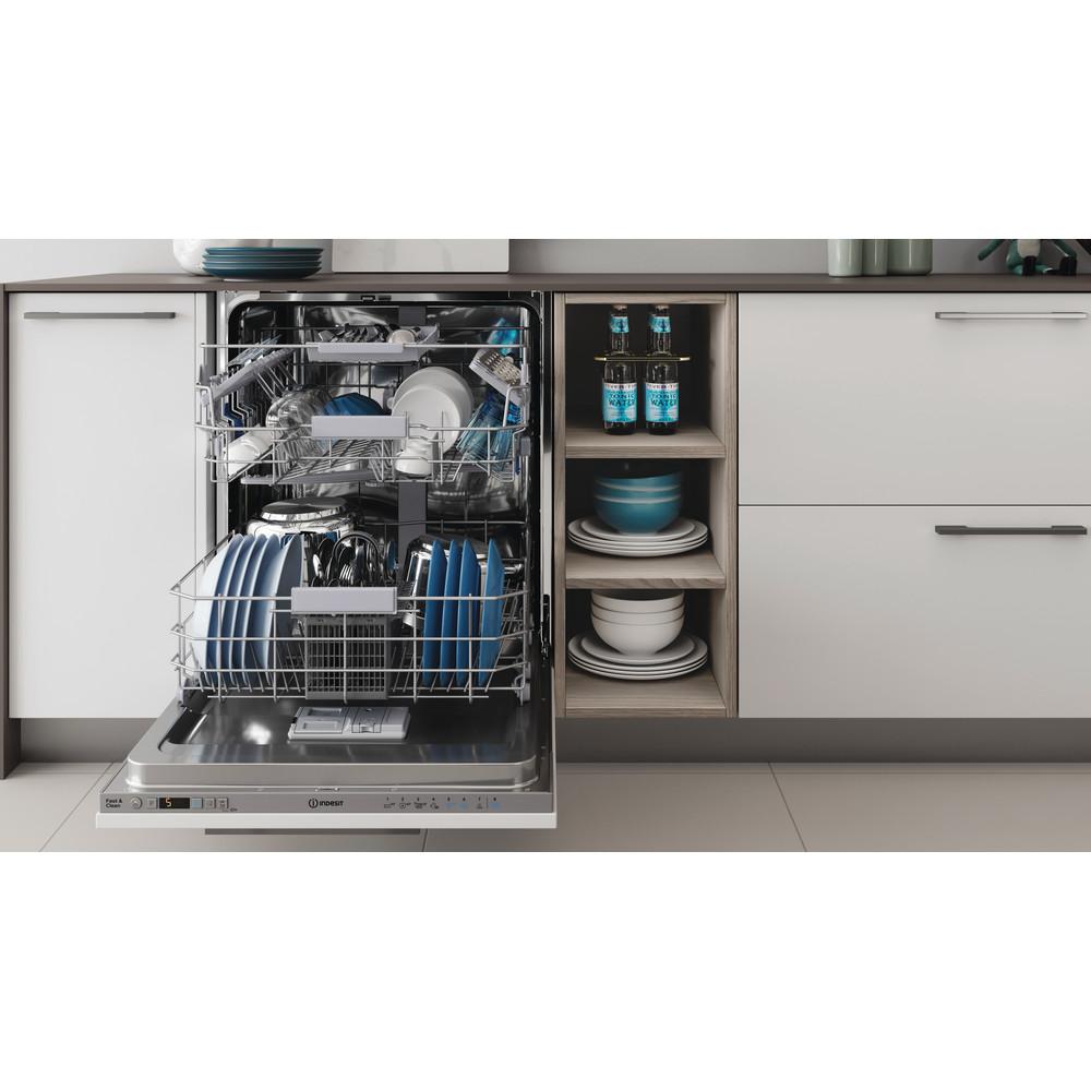 Indesit Lave-vaisselle Encastrable DIC 3C24 AC S Tout intégrable E Lifestyle frontal open