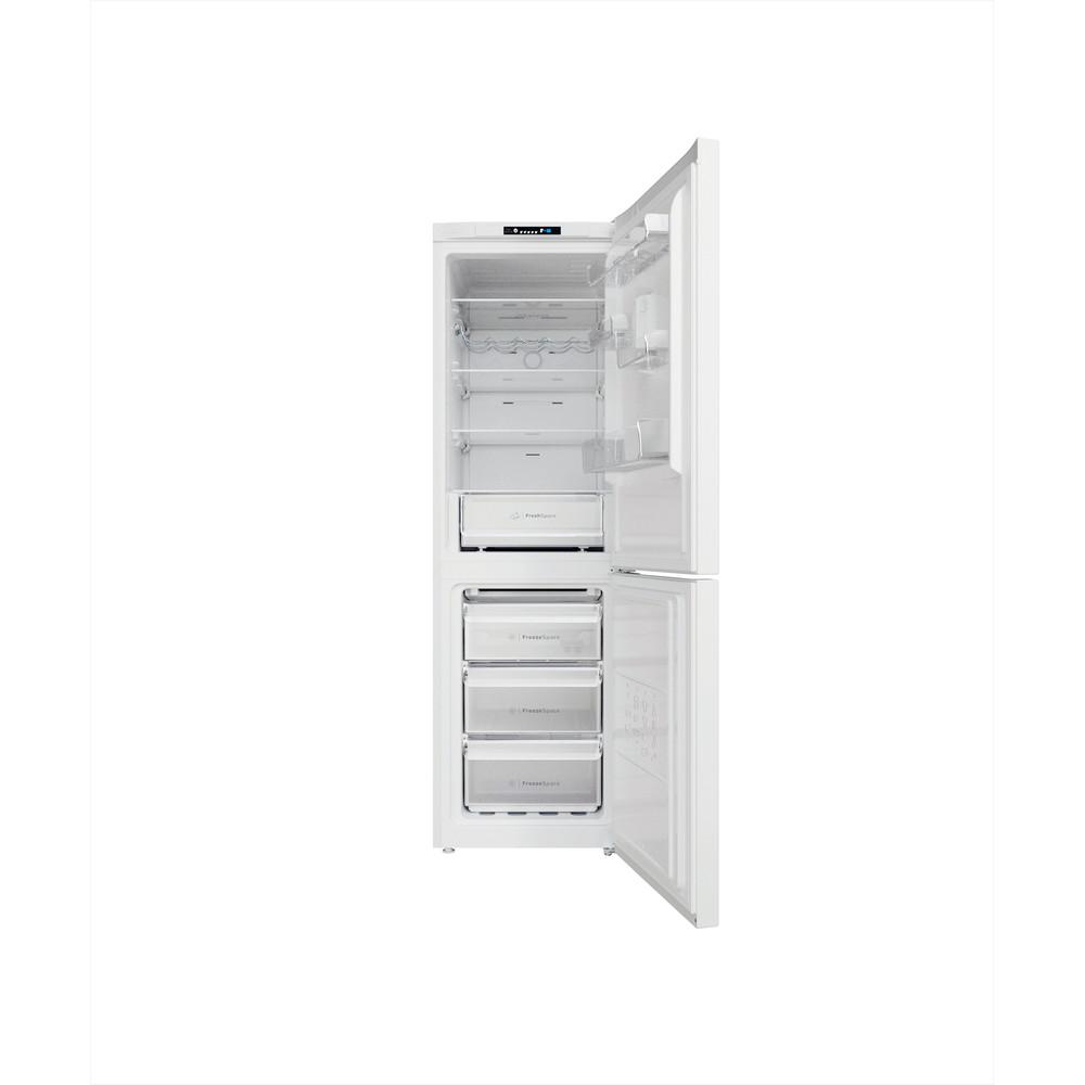Indesit Køleskab/fryser kombination Fritstående INFC8 TI21W Hvid 2 doors Frontal open