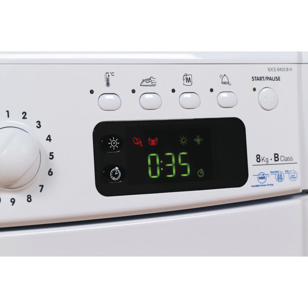 Indesit Dryer IDCE 8450 B H (UK) White Control panel