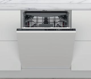Integreret Whirlpool-opvaskemaskine: sort farve, fuld størrelse - WIP 4T133 PFE