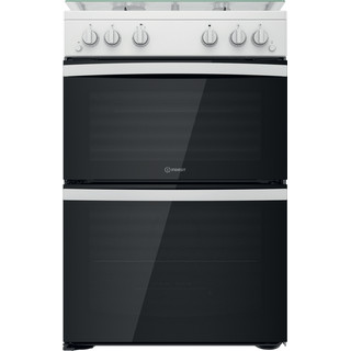 Indesit Double Cooker ID67G0MCW/UK White A+ Frontal
