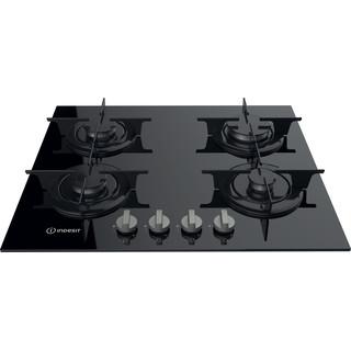 Indesit Table de cuisson PR 642 /I (BK) Noir GAS Frontal top down