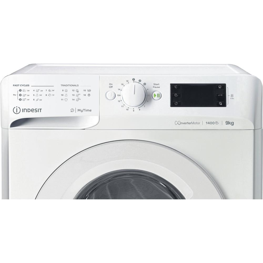 Indesit Pesukone Vapaasti sijoitettava MTWE 91483 W EU Valkoinen Edestä täytettävä D Control panel