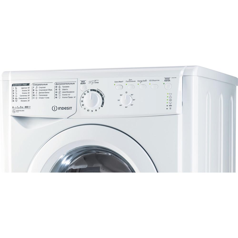 Indesit Стиральная машина Отдельностоящий EWSB 5085 CIS Белый Фронтальная загрузка A Control_Panel