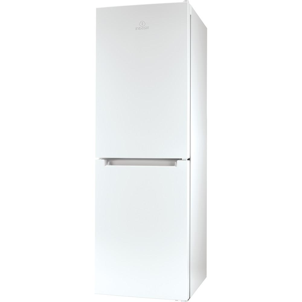 Indesit Réfrigérateur combiné Pose-libre LI7 SN1E W Blanc 2 portes Perspective
