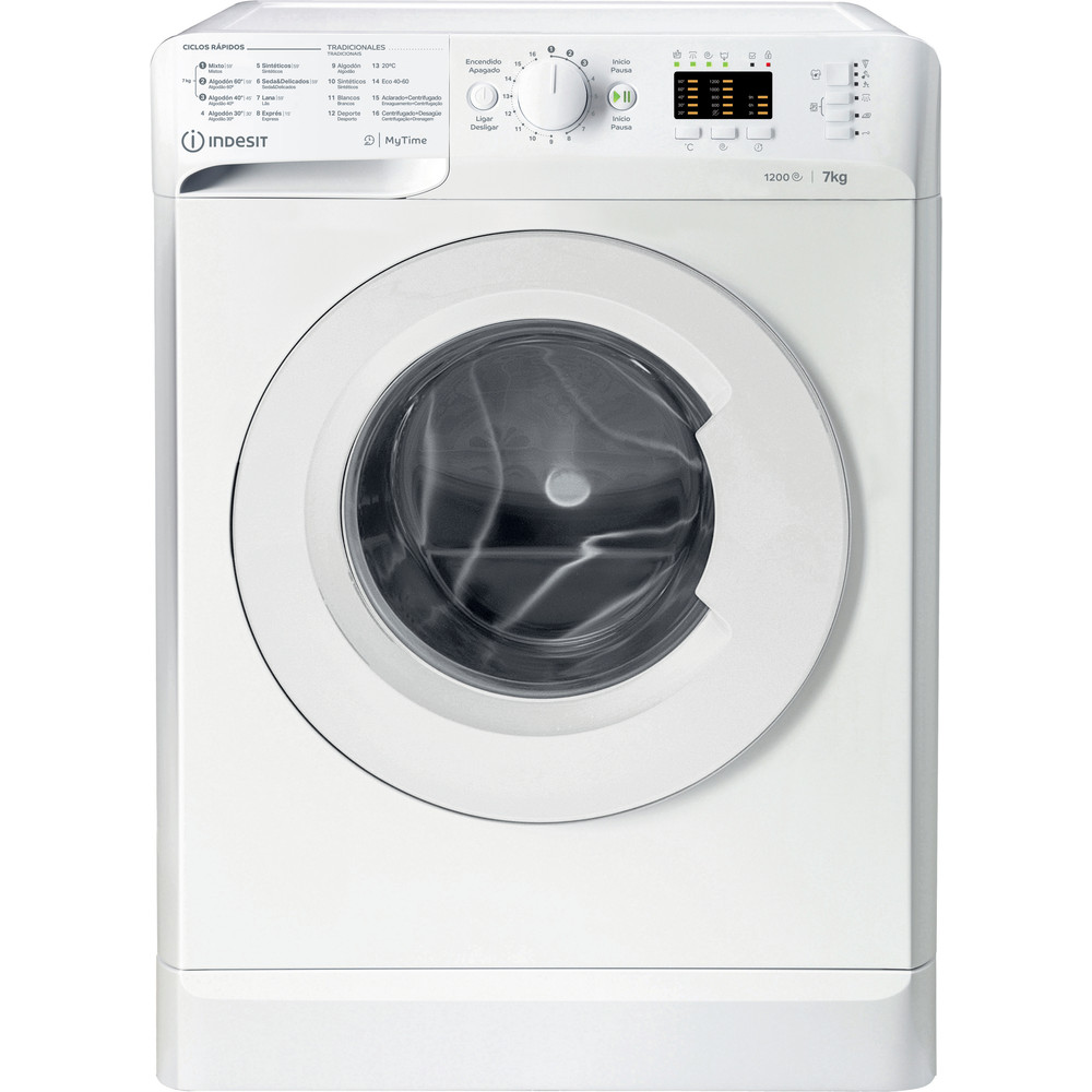 Indesit Máquina de lavar roupa Livre Instalação MTWA 71252 W SPT Branco Carga Frontal A+++ Frontal