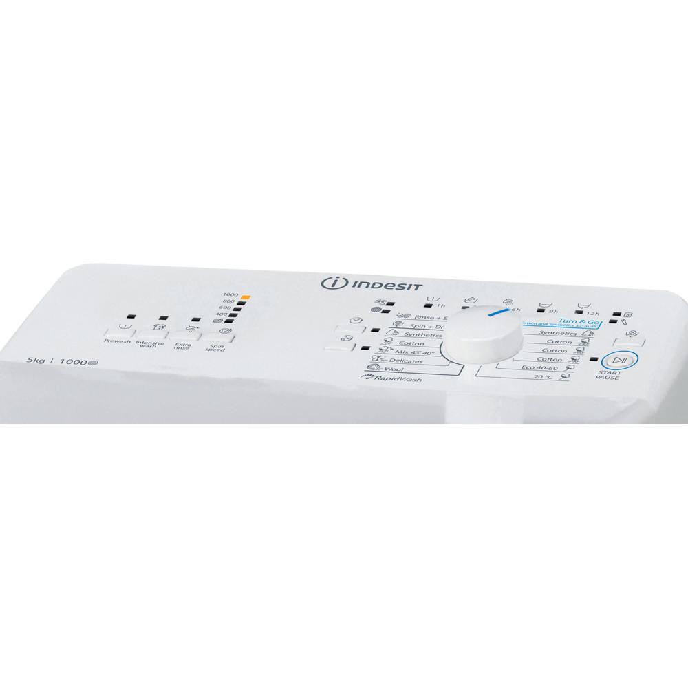 Indesit Mašina za veš Samostojeći BTW L50300 EU/N Bijela Top loader A++ Control panel
