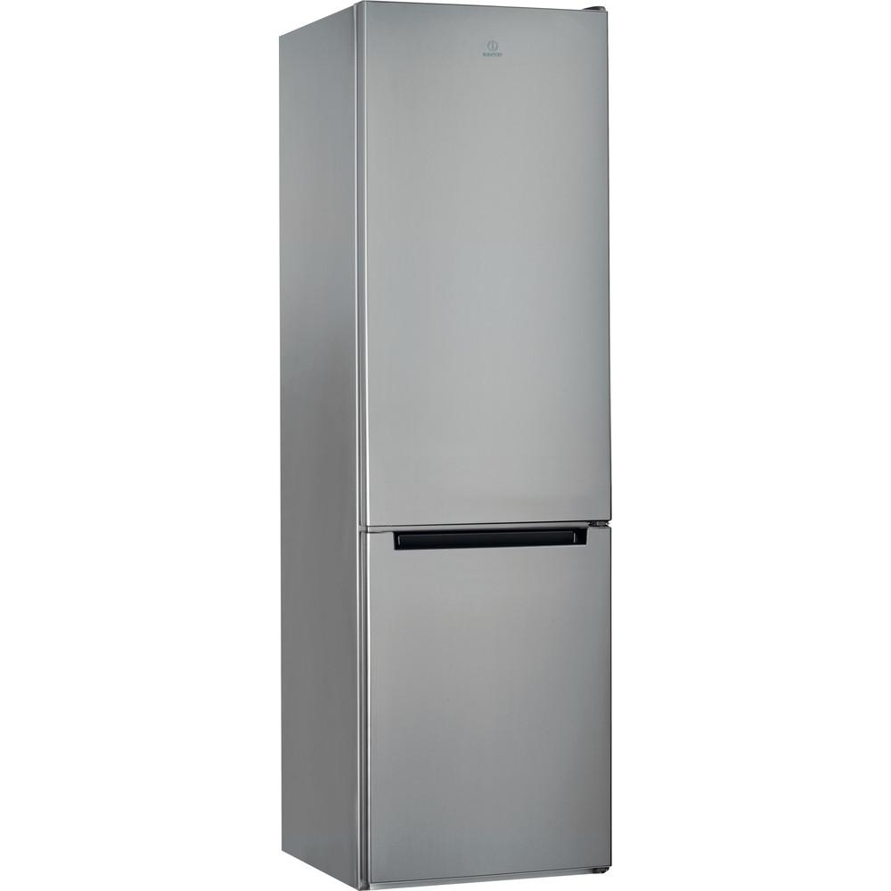 Indesit Комбиниран хладилник с камера Свободностоящи LI9 S1E S Сребрист 2 врати Perspective