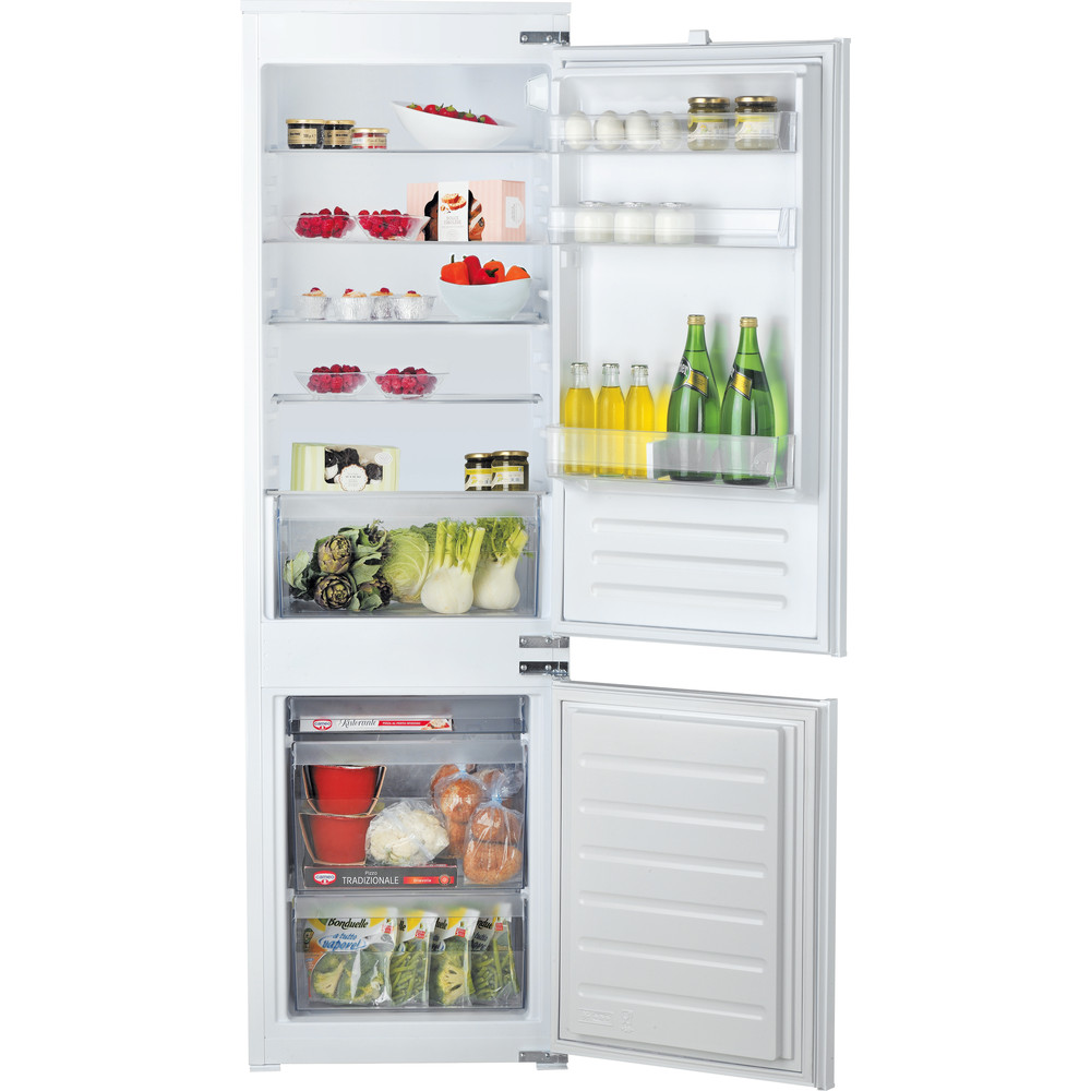 Hotpoint_Ariston Комбинированные холодильники Встраиваемая BCB 70301 AA (RU) Сталь 2 doors Frontal open