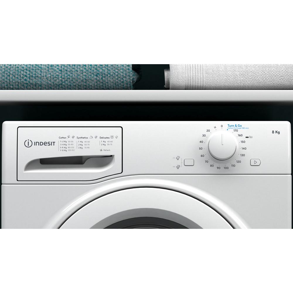 Indesit Dryer I2 D81W UK White Lifestyle control panel