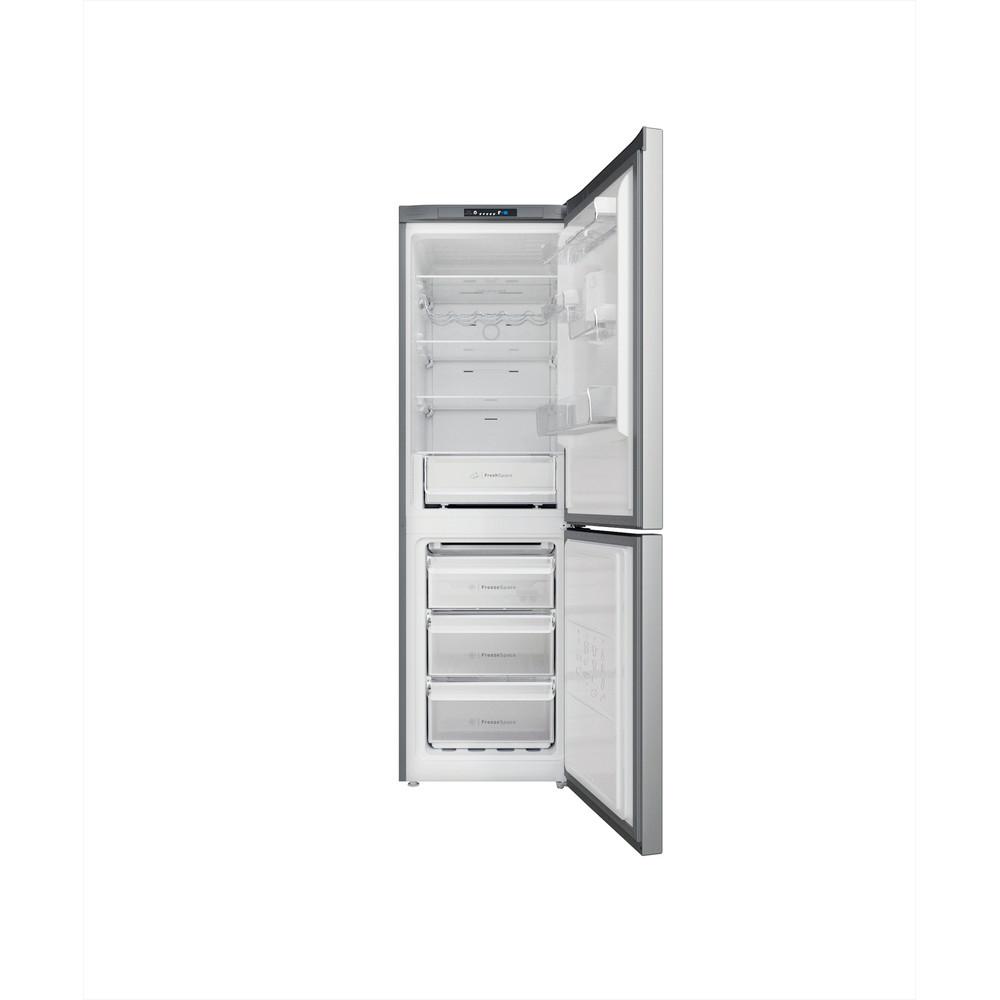 Indesit Kombiskap Frittstående INFC8 TI21X Inox 2 doors Frontal open
