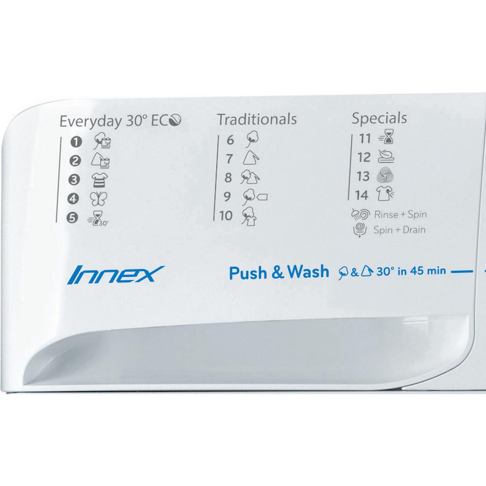 Indesit Máquina de lavar roupa Livre Instalação BWE 91284X WSSS EU Branco Carga Frontal A+++ Program
