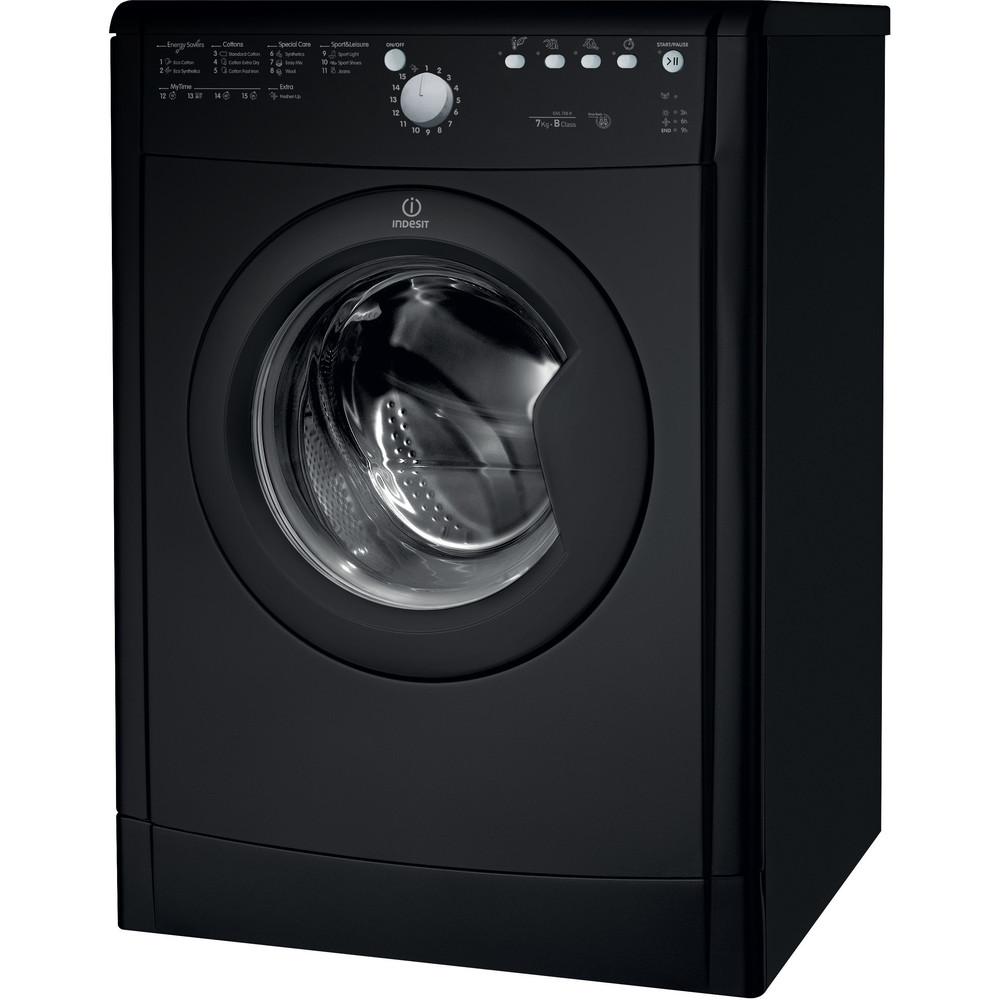 Indesit Dryer IDVL 75 BRK.9 UK Black Perspective