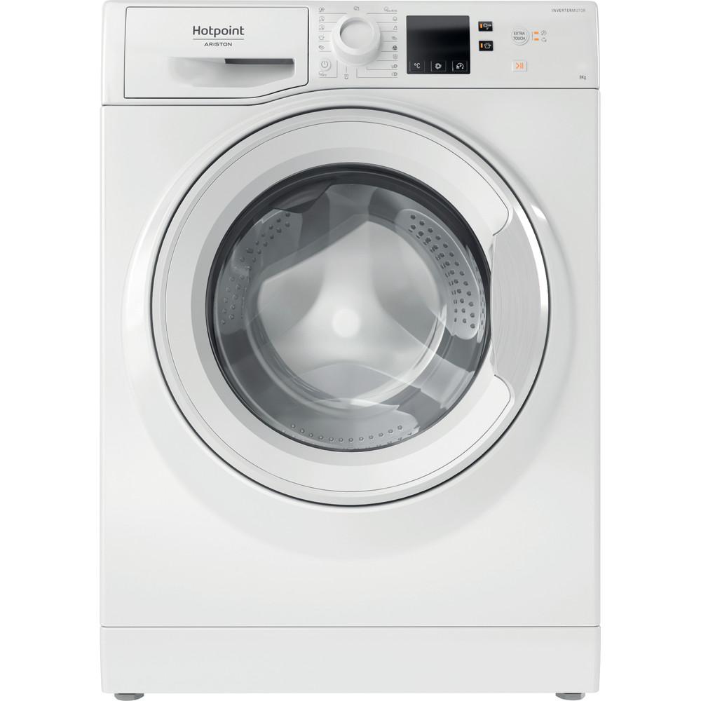 Hotpoint_Ariston Перална машина Свободностоящ NS823C W EU N Бял Предно зареждане A+++ Frontal