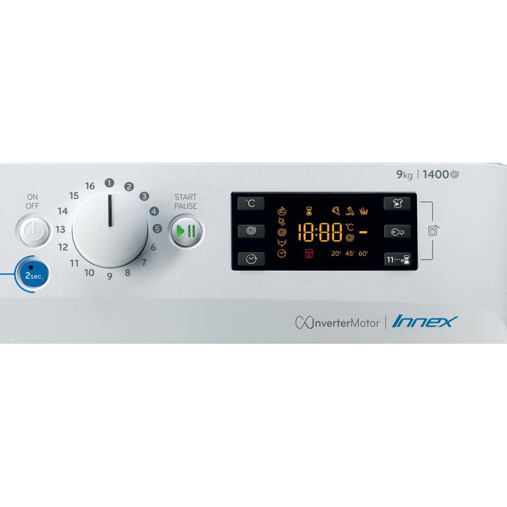 Indesit Lavadora Libre instalación BWE 91484X WS SPT N Blanco Cargador frontal C Control panel