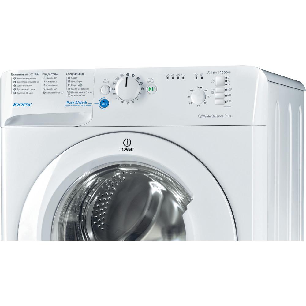 Indesit Стиральная машина Отдельностоящий BWSB 61051 Белый Фронтальная загрузка A Control panel