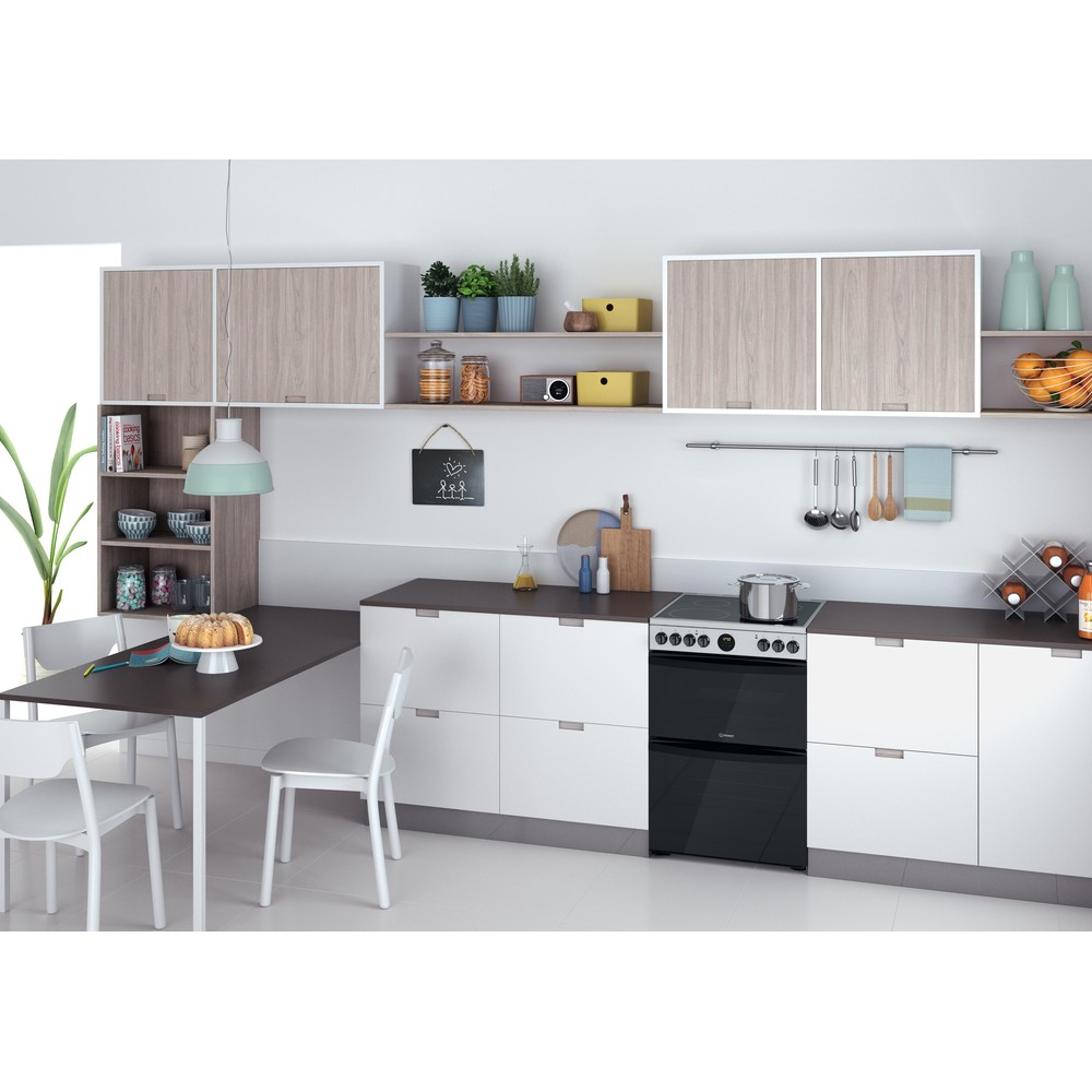 Indesit Double Cooker ID67V9HCX/UK Inox A Lifestyle perspective