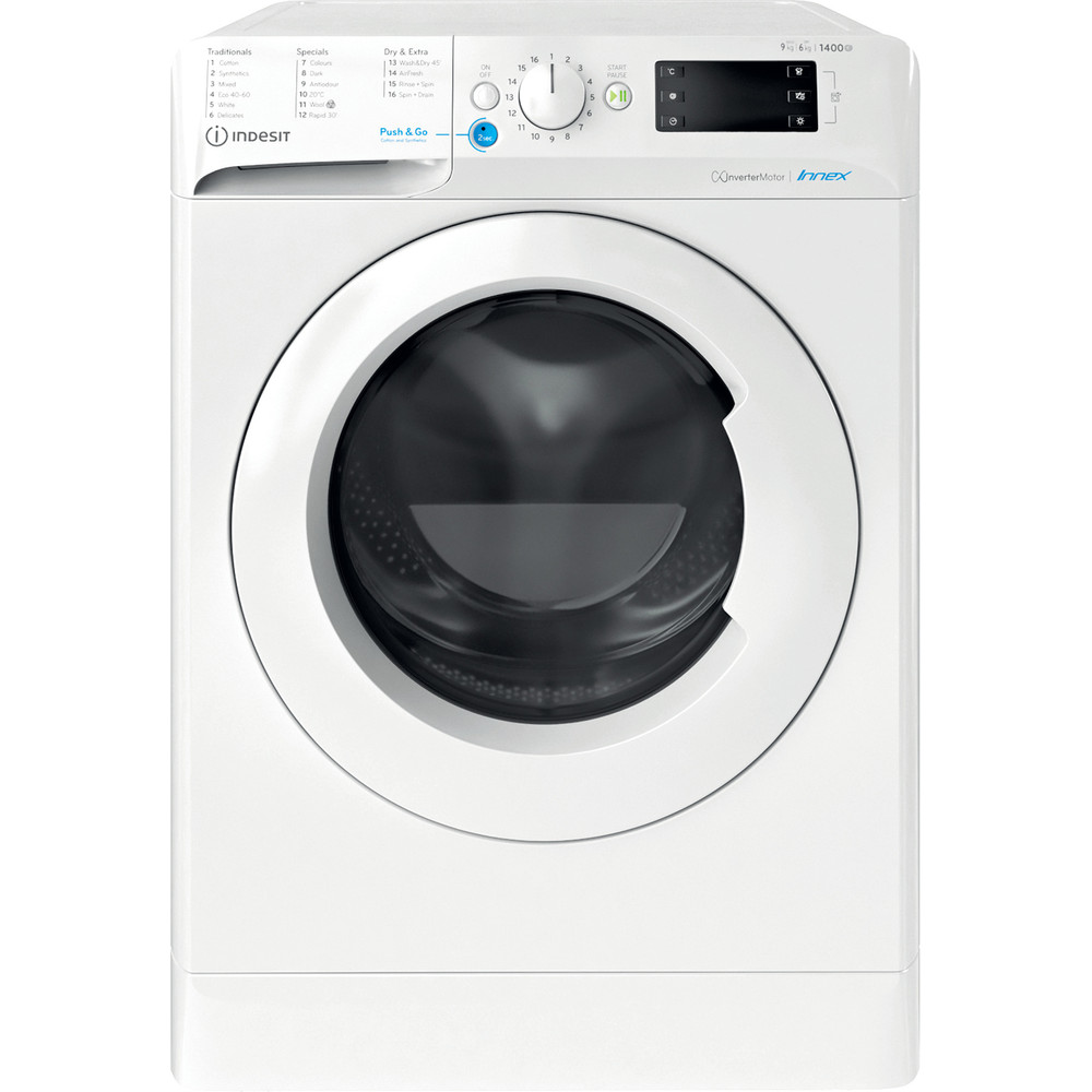 Indesit Washer dryer Free-standing BDE 961483X W UK N White Front loader Frontal
