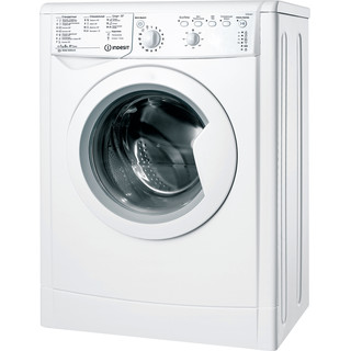 Indesit Пральна машина Соло IWSB 51051 UA Білий Front loader A+ Perspective