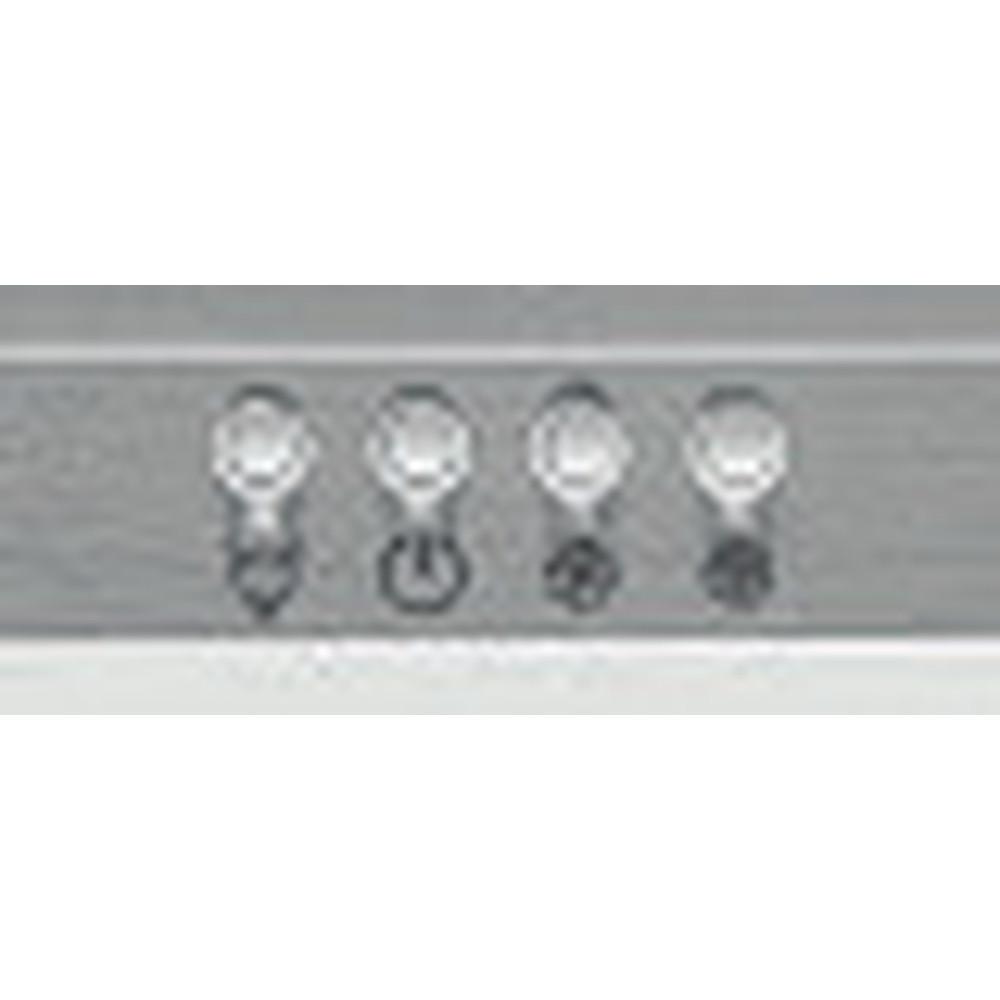 Indesit Dampkap Inbouw IHPC 9.4 LM X Inox Wandmodel Mechanisch Control panel